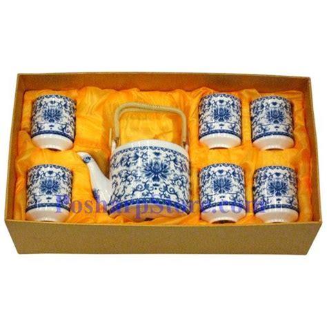 Rumauma Ceramic Tea Pot Set Wave Pattern ceramic blue flower teapot set