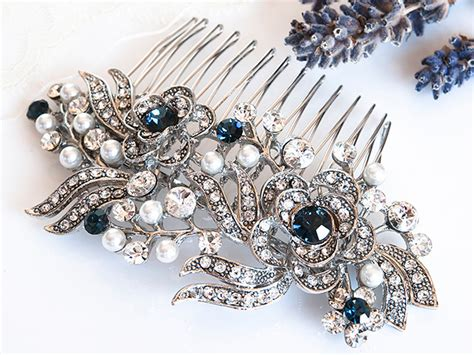 Wedding Hair Accessories With Blue by Style Bridal Hair Accessories Blue Swarovski