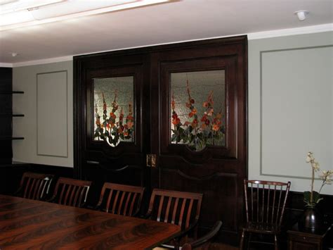 pocket doors dining room family room divider traditional