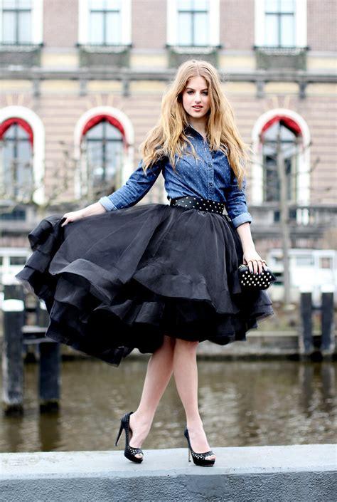 Rosekasm Dress lara roskam we fashion denim blouse claes iversen for we tule skirt black dramatic