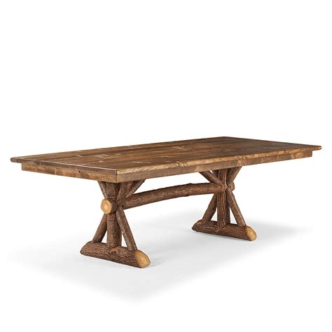 Dining Table Trestle Rustic Trestle Dining Table La Lune Collection