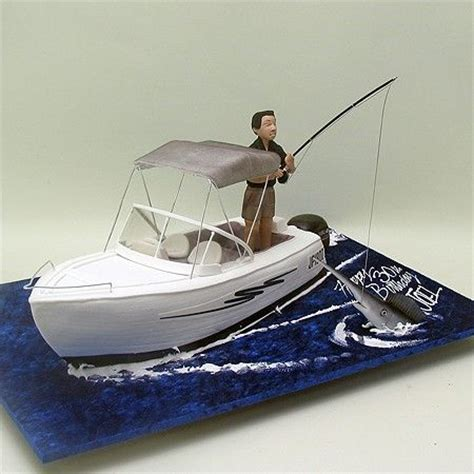 man in fishing boat cake topper 235 best images about boats ship cakes on pinterest