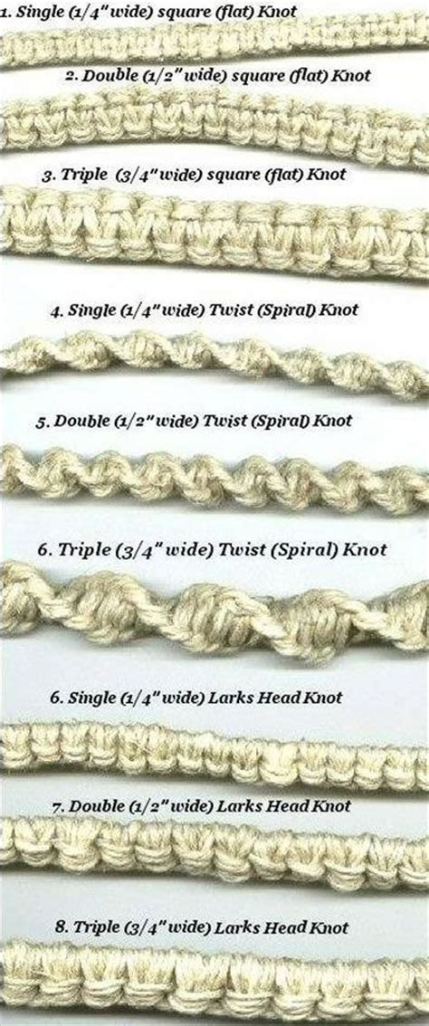 Different Types Of Macrame Knots - logos hemp bracelet pattern aiveeimages knotted