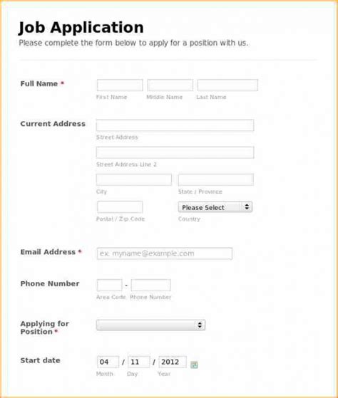 basic job application form famous icon forms print esl