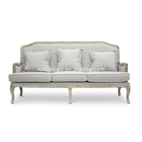 linen sofa durability living room furniture vintage french louis style wood