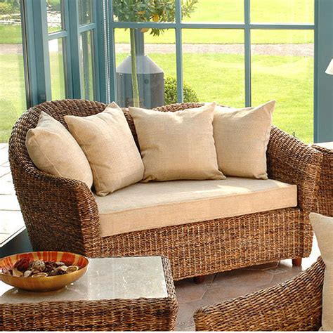 small sofas for conservatories cane conservatory furniture laluna sofa cane sofa candle