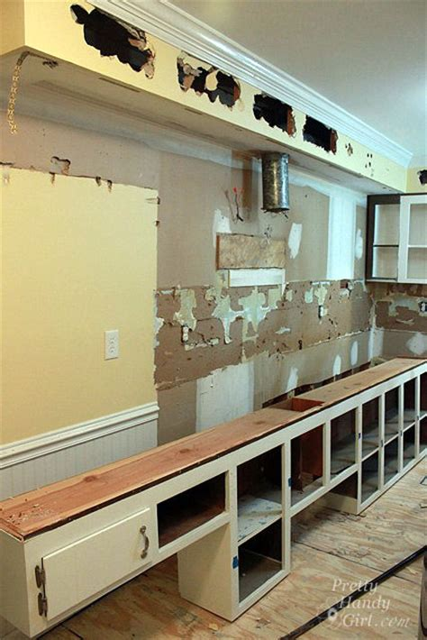How To Remove Kitchen Cabinet How To Remove A Soffit Kitchen Renovation Update Pretty Handy