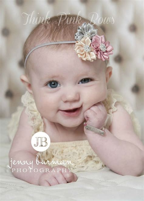 baby headband headband flower headbands baby by kinseygraceco items similar to baby headband newborn headband flower