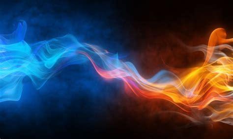wallpaper abstrak air cuadro fuego azul y rojo 100 a medida