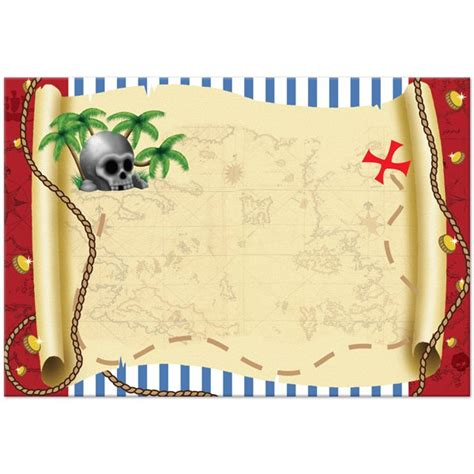 Pirate Treasure Map Invitations Templates Pirate Treasure Map Invitation Template