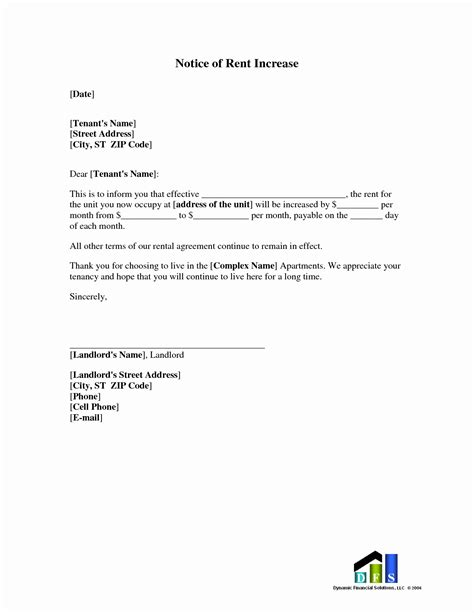 rent increase letter template nz rent increase letter sle awesome rent increase letter