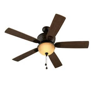 harbor 52 inch ceiling fan shop harbor herndon 52 in aged bronze downrod or
