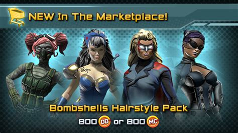 dcuo haircuts dc universe online new in the marktplace dc bombshells
