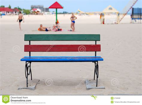 bench on the beach bench on the beach stock photo image 2750500