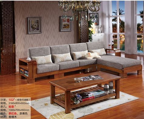 wood living room chairs 2016 new l shaped sofa chaise chinese chor wood living