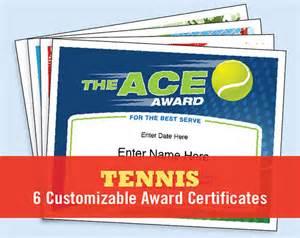 tennis gift certificate template tennis certificate pack tennis award template tennis awards