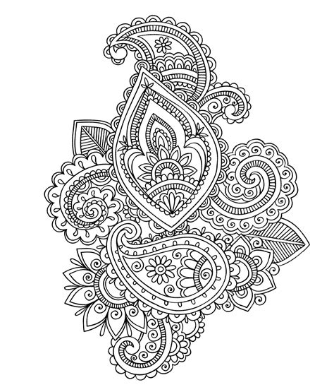 paisley pattern in spanish paisley cashemire oriental coloring pages for adults