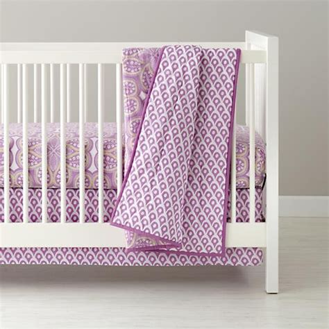 Land Of Nod Crib Sheets by Mosaic Paisley Crib Bedding Lavender