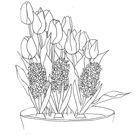 Van Gogh Flowers In Vase Coloriage Fleurs Jacinthes Et Tulipes 3