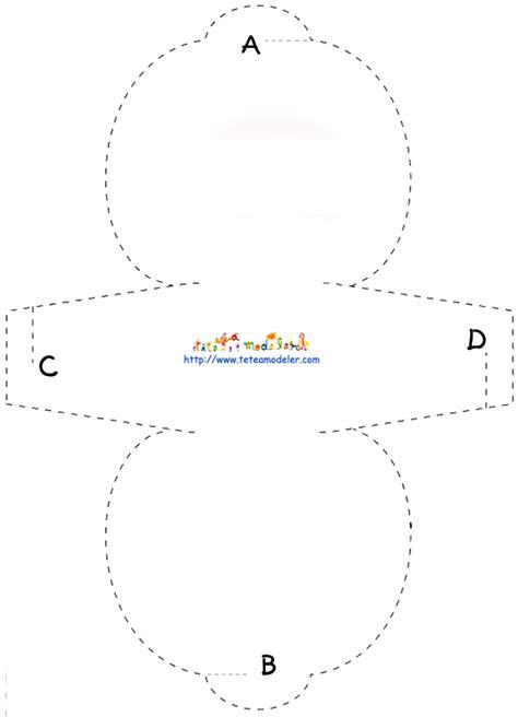 Imprimer le modèle de pochette à cadeau vierge modèle 1