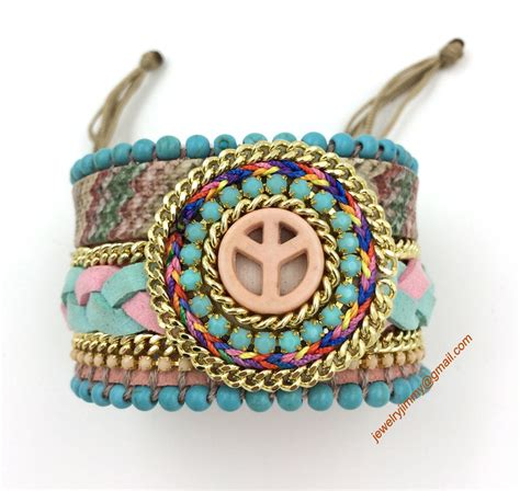 Unique Handmade Bracelets - 2016 european unique handmade jewelry leather bangle wrap