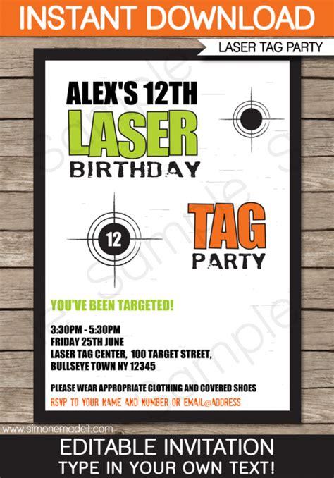 free laser tag invitation template laser tag invitations template free cimvitation