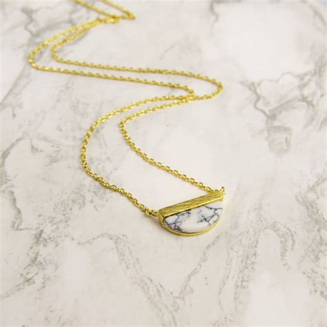 Marble Necklace gold marble necklace by emporium notonthehighstreet