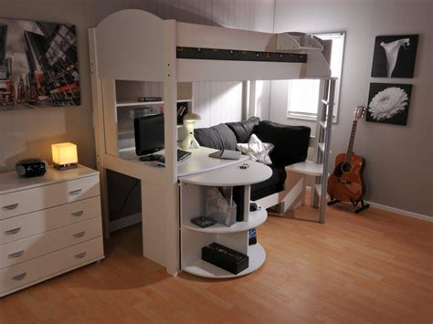 Bedroom Interesting Bunk Bed  Desk