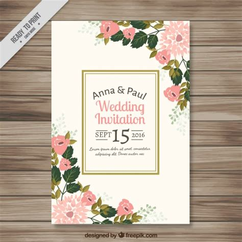 Wedding Invitation Design Freepik by Wedding Invitation Card Freepik Wedding