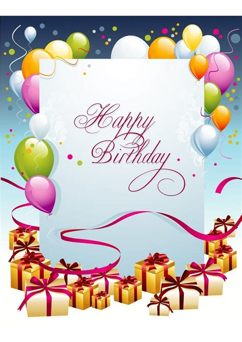 birthday card inserts templates birthday cards template resume builder