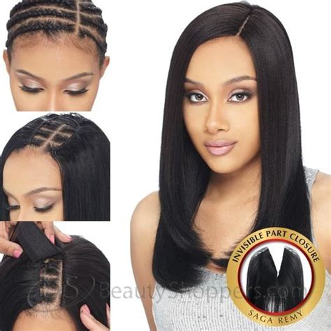 weave styles with closures saga remy human hair piece invisible part closure