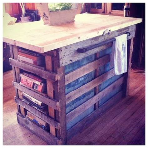 diy kitchen island made from pallet wood house 32 simple rustic kitchen islands amazing diy