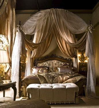 fantasy bedrooms fancy schmancy canopy bed with settee bedroom next