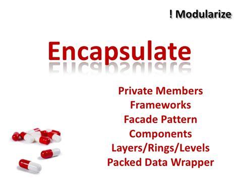 visitor pattern private members modularize encapsulate private members