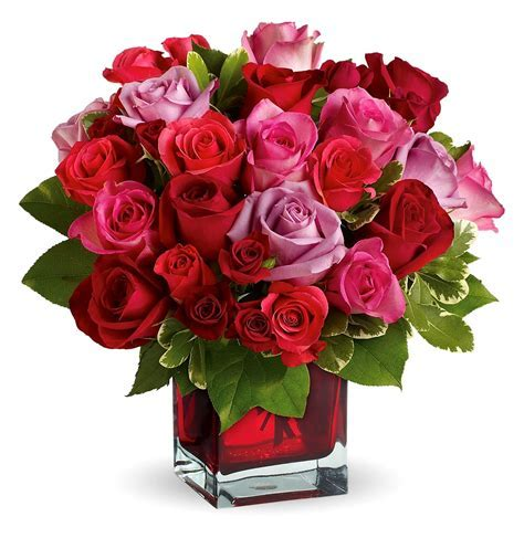 50 Mix Color Roses in Plain Color Glass Vase ? J K Florist
