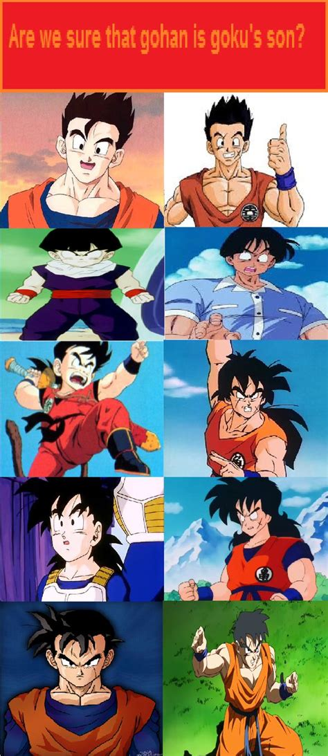 why does gohan look more similar to yamcha than goku dbz