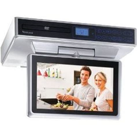 under cabinet radio tv kitchen venturer klv39103 10in undercabinet kitchen tv dvd combo