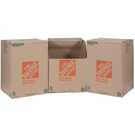 wardrobe boxes home depot the home depot wardrobe box with metal hanging bar 3 pack