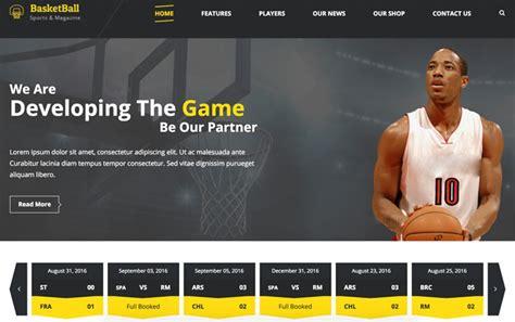 15 Best Responsive Sports Website Templates 2018 Designmaz Basketball Team Website Template