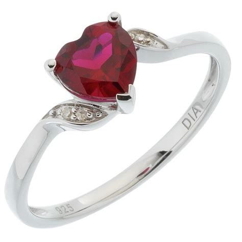 buy sterling silver created ruby ring at argos co uk