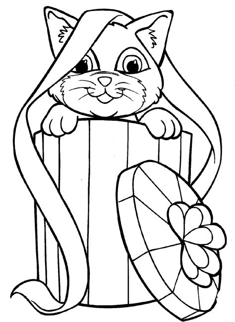 christmas kitty coloring page coloring sheets kitten coloring page cats and kittens