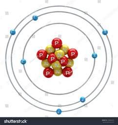 Protons In Nitrogen Nitrogen Atom On White Background Stock Illustration