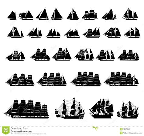 zeil definition types van zeilboten vector illustratie afbeelding