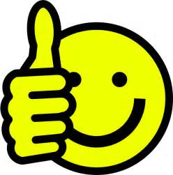 clip art smiley face thumbs up