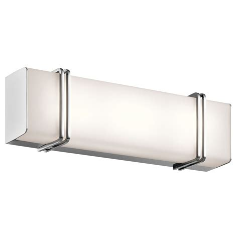 Kichler Lighting Bathroom Lighting Kichler Lighting Impello Chrome Led Bathroom Light 45801chled Destination Lighting
