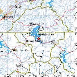 hiawassee ga population data races housing