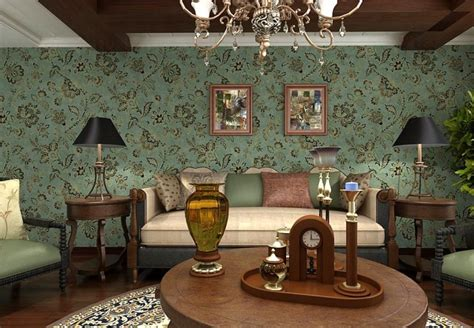 vintage livingroom vintage living room wallpaper home decor interior