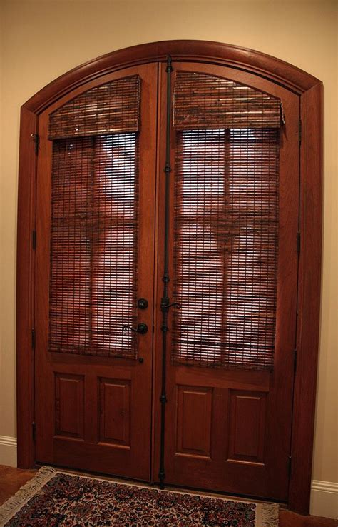 wood blinds for doors 1000 ideas about arched doors on wooden doors