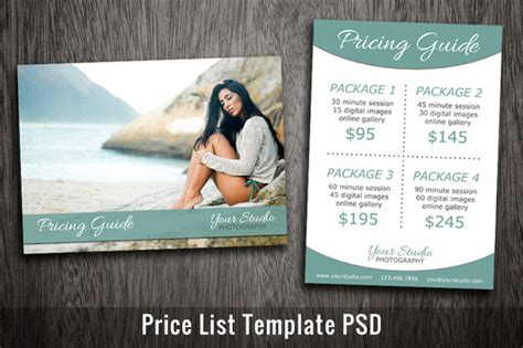 price list template stock vectors royalty free price list template