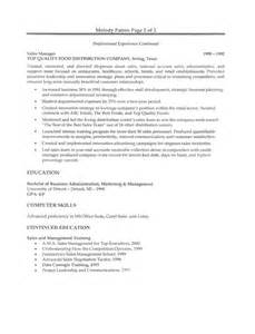 sle resume format for marketing executive sle resumetelesales executive 28 images doc